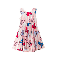 Kids Dress Cute Pink Baby Girls Dress Summer Children S Dresses 12years Floral Polyester Clothing