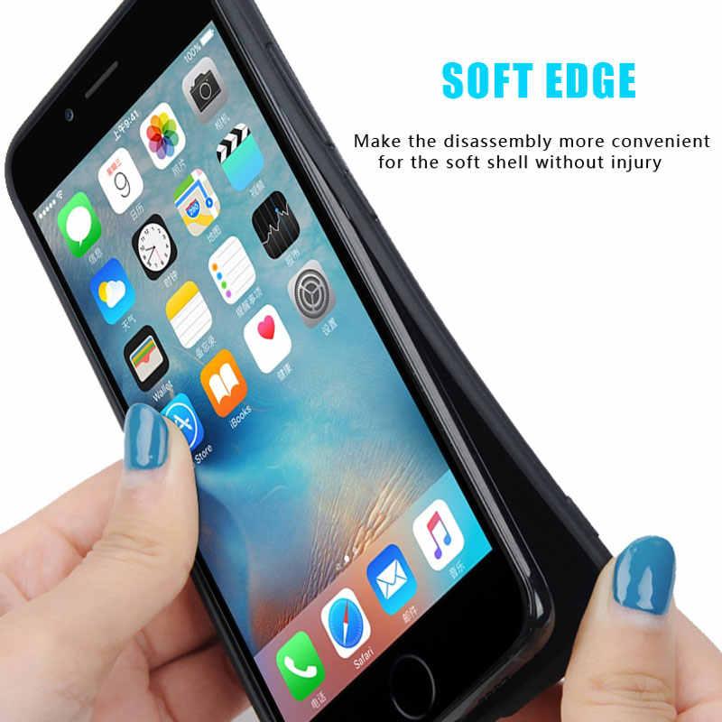 Para o iphone 6 caso para iphone 6 s caso para iphone 6 s mais caso capa traseira completa capa para iphone 6 plus casos tecido fundas