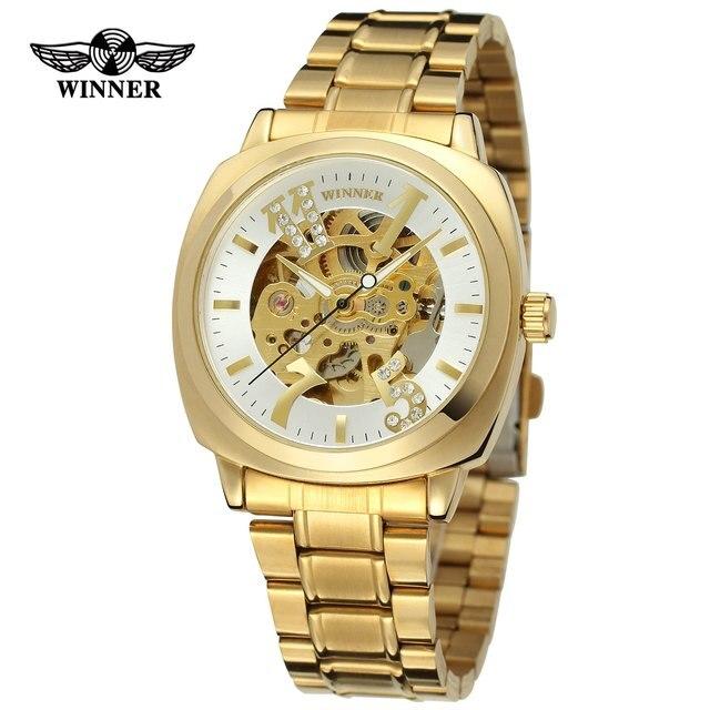 66a3d417fb8 Forsining Relógios Homens Top Marca de Luxo Moda Relogio masculino Ouro Esqueleto  Relógio Mecânico Automático do