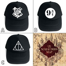 a8f1fd7a279 OHCOMICS For Harri Potter Fan HP Harry Hogwarts Deathly Hallows Black Cotton+Polyester  Hat Cap
