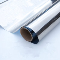 Width: 90cm Wholesale Silver One Way Mirror Solar Tint Window Film Reflective Glass Sticker Home Decor Heat Resist