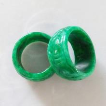 KYSZDL натуральный ручной резной banzhi кольца для мужчин палец Модный Ювелирный камень и США Размер 9,5-10,25