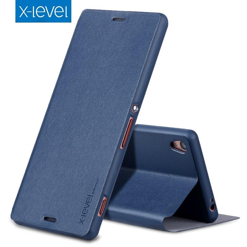 X-Livello DELL'UNITÀ di ELABORAZIONE Custodia In Pelle Per Sony Xperia XA1 Ultra G3221 di Lusso Del Basamento Della Copertura Per XA Ultra F3212 XA1 f3111 di Stile di Affari di Caso di Vibrazione