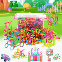 500pcs/lot assembled building blocks magic wand smart stick magnetic designer building education boy girl child toy gift