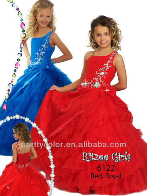 Robe longue rouge fille