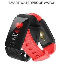 LIGE Newest IP67 Waterproof Sport Smart Bracelet Heart rate Monitor Blood Pressure Fitness Tracker Wristband Smartwatch Watch