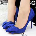 Sexy High Heel Pumps Wedding Shoes Women Bowtie Brand Pumps Thin High Heels Pumps Shoes For Women Pointed Toe Shoes Woman Heel