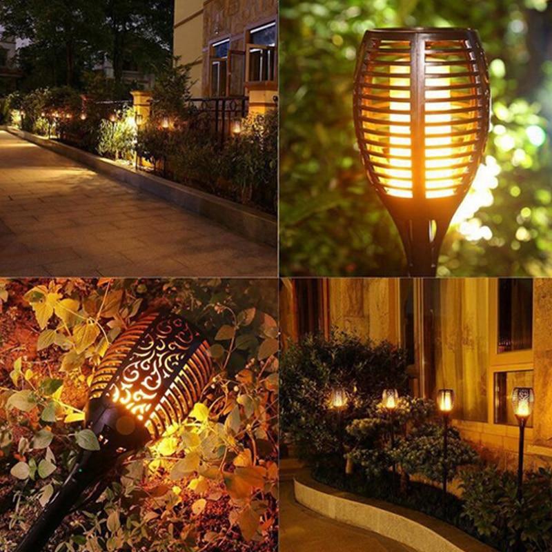 levou lampada chama ip65 led paisagem decoracao do jardim luz solar a prova d agua ao