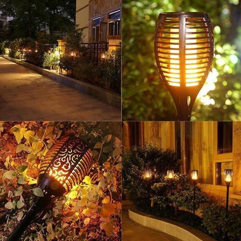 levou lampada chama ip65 led paisagem decoracao do jardim luz solar a prova d agua