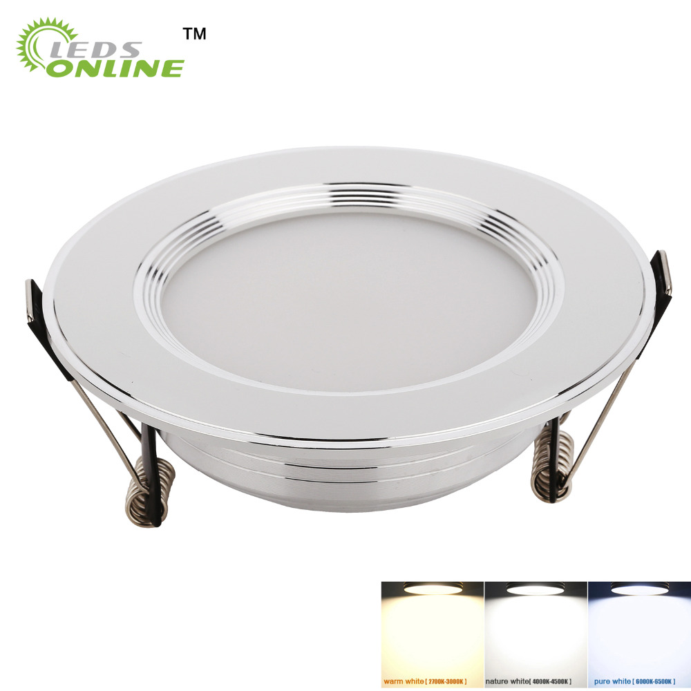 3W 5W 7W LED Ceiling Downlight LED Recessed Cabinet Wall Spot Light Down Lamp Gold Silver Cold White Warm White