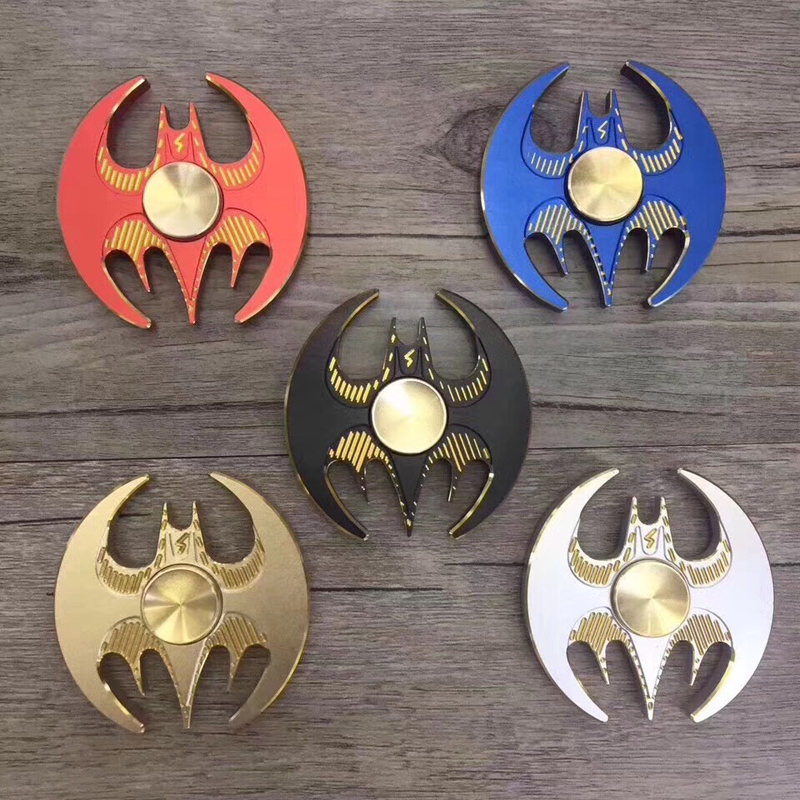 2017 New 100Pcs mixing Aluminum alloy Batman Hand Finger Spinner Rainbow Metal Adult child Anti Stress Relief Toy Autism EDC