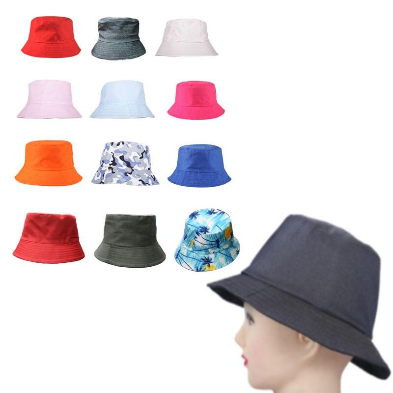 Fashion Cotton Bucket Hat Sun Cap Fishing Camping Travel Boonie Visor Women Men