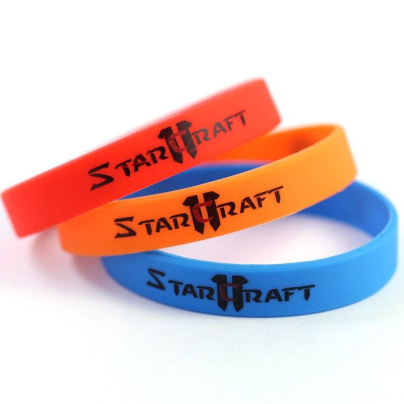 Модные спортивные силиконовые полосы каучука Браслеты Для женщин мужской силиконовые StarCraft II DOTA браслет Для мужчин Jewelry Сувениры