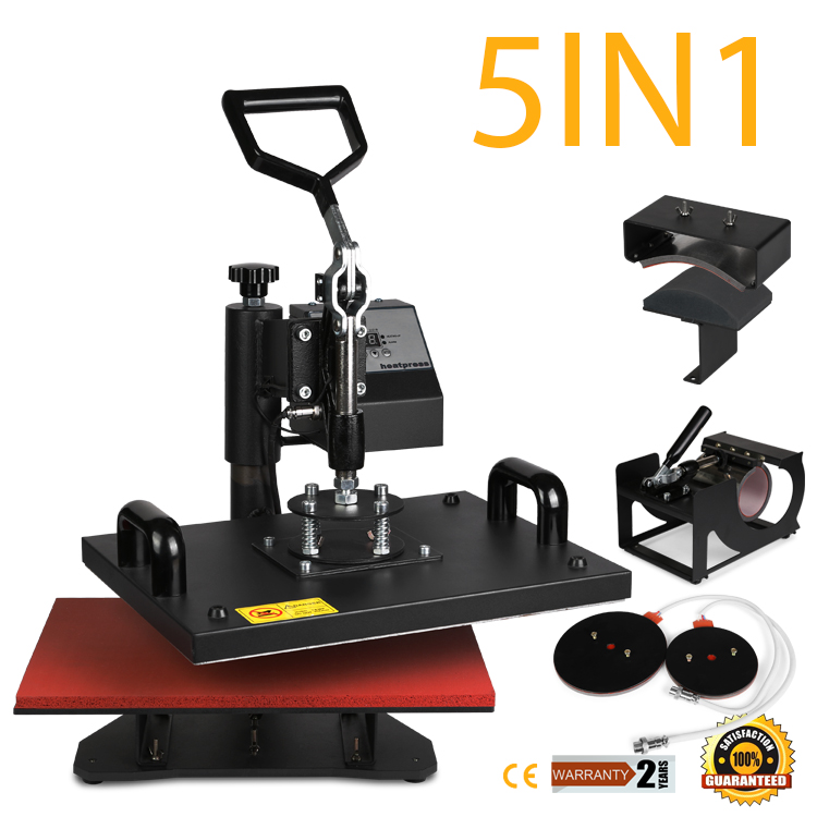 5IN1 T-SHIRT HEAT PRESS TRANSFER SUBLIMATION PRINTING SWING AWAY MACHINE HOT