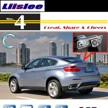 Liislee For BMW X6 X6M E71 2008~2014 Car Camera High Quality Rear View Back Up Camera For PAL NTSC For TG Tuning CCD Connector image