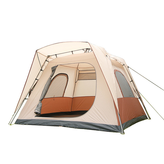 Wnnideo 5-8 People Automatic Tent One Second Speed Open Ventilated Skylight Screen Family Tent for Camping Party Picnic