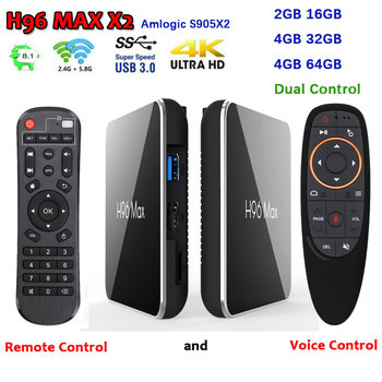 Android box H96 MAX X2 Amlogic S905X2 Android 8.1 smart TV Box bluetooth4.1 dual wifi 4K USB 3.0 support iptv google play h96max