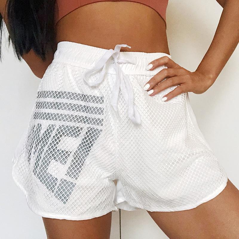 ★  Женские спортивные шорты Quick Dry фитнес короткие Activewear Тренажерный зал двухслойные тренировки ①