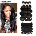 8A Peruvian Body Wave Full Lace Frontal Closure Free Part With Bundles Hotlove Hair Frontals Peruvian Virgin Hair