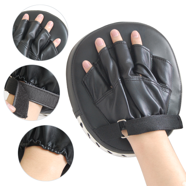 Prix pour Elos-2pcs sport pro de boxe mitaines formation coaching cible tapis gants glve mitaines muay thai kick mma