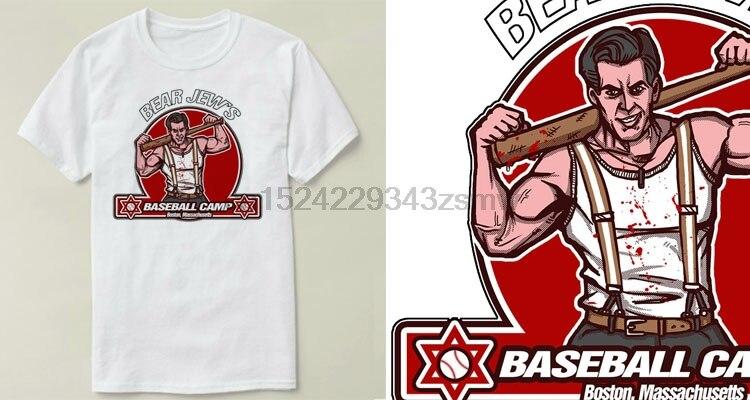 Bear Jew Baseball Camp Inglourious Basterds Men Clothes Short Sleeve Slim Fit T Shirt Men Men's Clothing T-shirts shirt Casual T Shirts Cmt