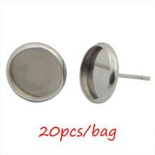 20 шт/пакет серьга с пустым основанием из нержавеющей стали