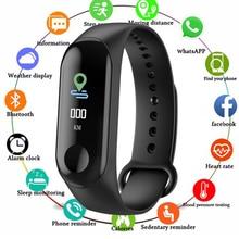 New M3 Smart Band Watch Bracelet Fitness Tracker Pedometer Blood Pressure Heart Rate Monitor Waterproof Wristband Fitness watch
