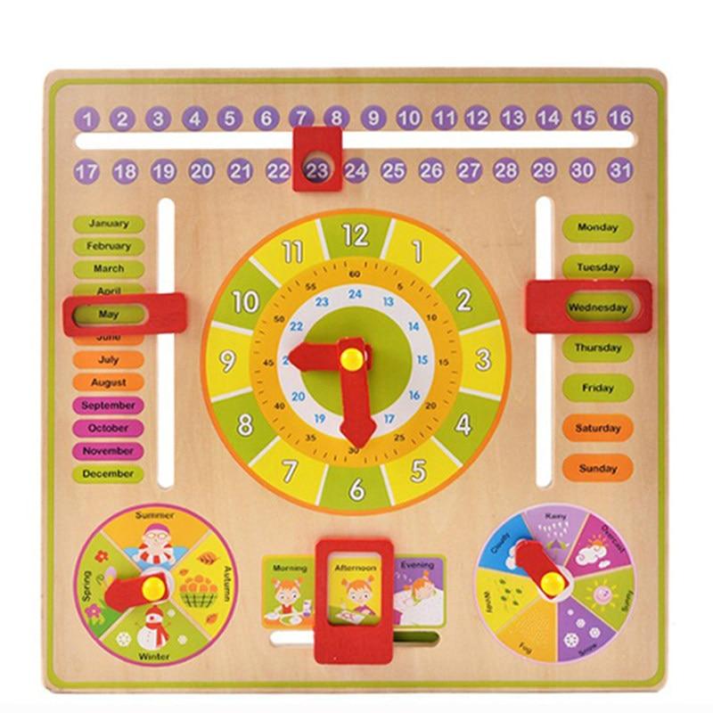 Calendario Montessori.13 61 15 De Descuento Reloj De Entrenamiento Cognitivo Multifuncion Para La Ensenanza Montessori Calendario Y Panel Operativo De Tiempo En
