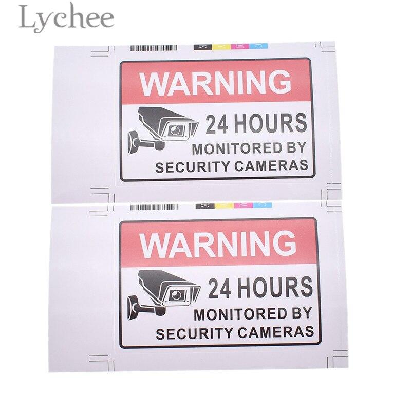 aliexpress com buy lychee 2pcs 24 hours surveillance warning signs