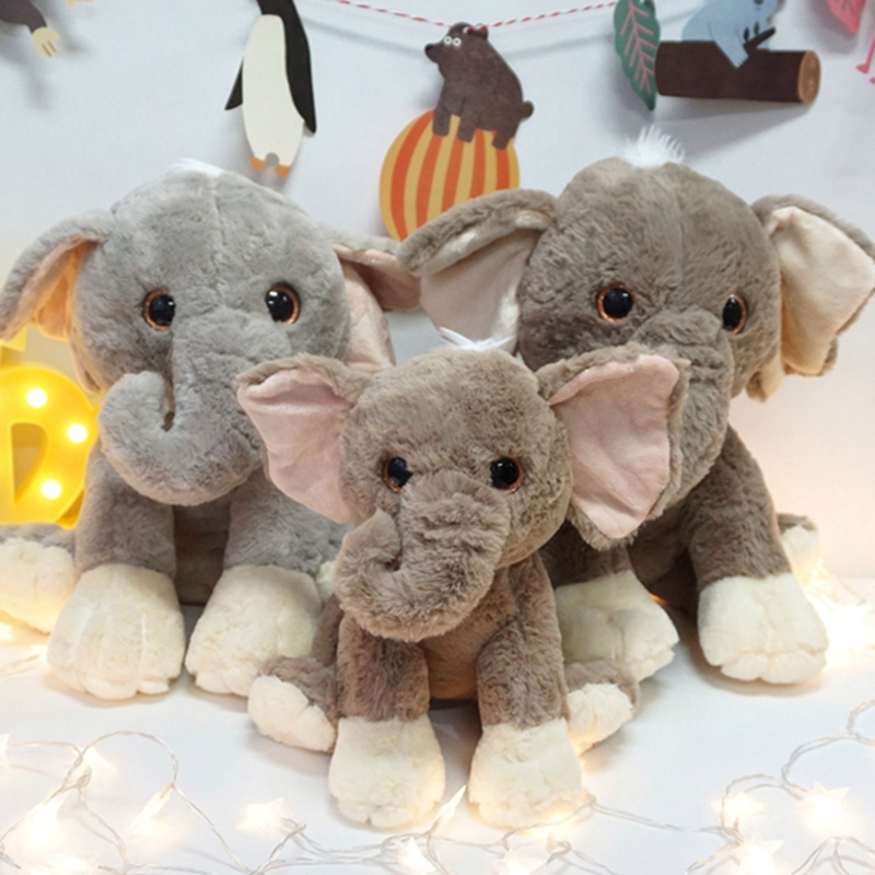25cm Plush Toy For Children Elephant Doll Lumbar Elephant Pillow Baby Appress Doll Bed Cushion Kids Toy Gift For Girl