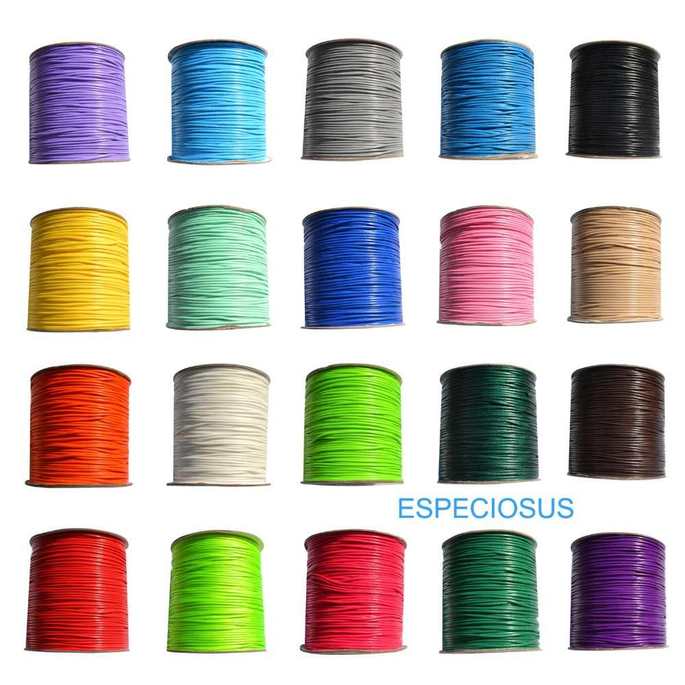 10m Nylon Cord Thread Hide Rope Macrame Cord Bracelet Braided String DIY Necklace Beading Waxed Rope String Thread 20 Colors