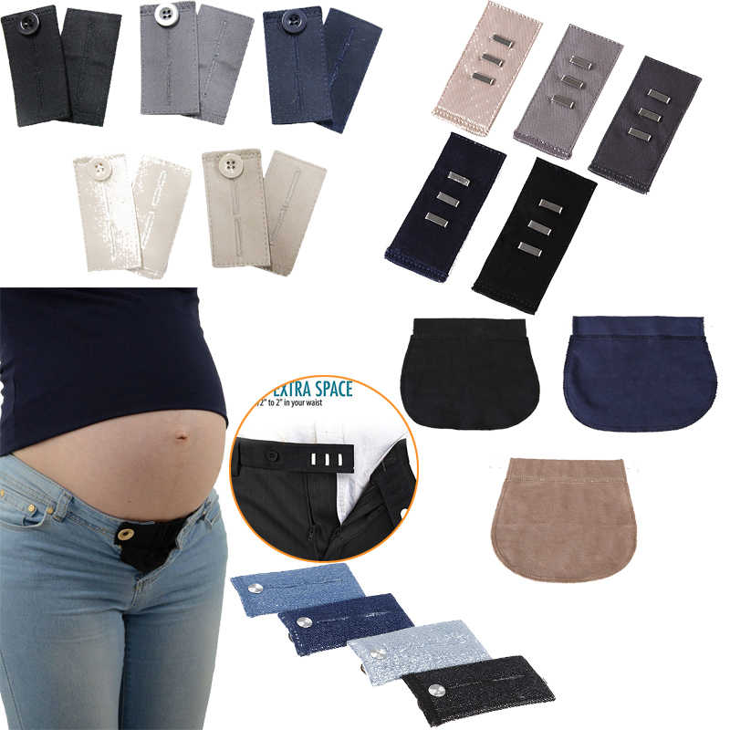 Hot Maternity Pregnancy Waistband Belt ADJUSTABLE Elastic Waist Extender Women Bra Strap Extender Clothing Pants For Pregnant