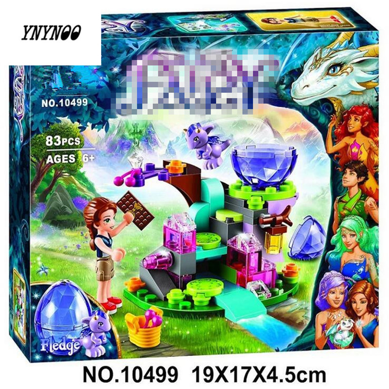 YNYNOO BELA 10449 83pcs Friends Emily Jones the Baby Wind Dragon Model Building Blocks Toy Compatible 41171 Bricks set Elves Toy hot nuevo 10415 elfos azari aira naida emily jones cielo fortaleza castillo building block toys