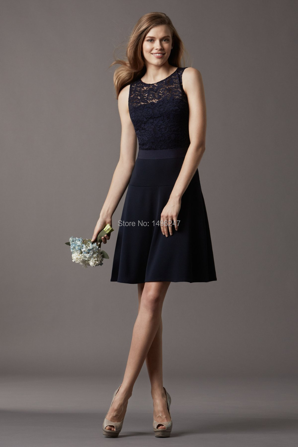 Popular fast shipping bridesmaid dresses buy cheap fast shipping fashionable vintage dark blue chiffon lace bridesmaid dresses a line short country style bridesmaid dresses cheap ombrellifo Image collections
