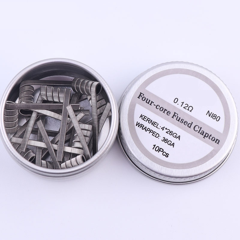 NI80 High Density Clapton Prebuilt Coils Premade Coil For Electronic Cigarette RDA RTA RBA Atomizer Heating Wire Fil Chauffant