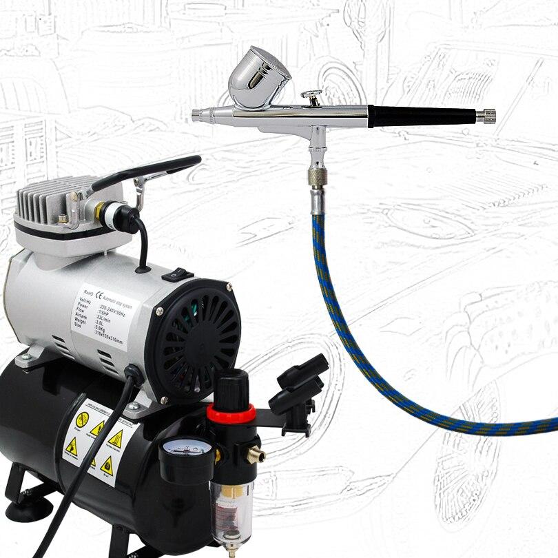 Chất Lượng cao Nền Kinh Tế Airbrushing ABK-130-T Air Compressor Kit Sơn Cơ Thể Hình Xăm Tạm Thời 220 V