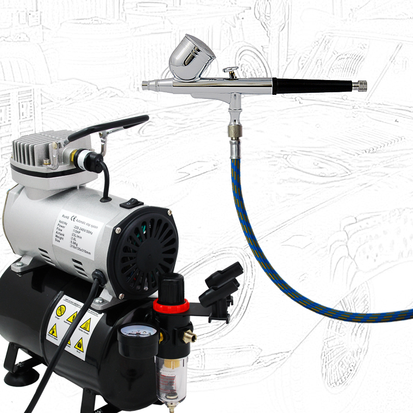 High Quality Economy Airbrushing ABK-130-T Air Compressor Kit  Body Paint Temporary Tattoos 220V аудиотехника abk ]pa2179siii