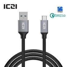 USB С USB 3.0 Плетеный Нейлоновый Шнур 1 М USB 3.0 Тип с Зарядки Кабель Синхронизации Данных для Macbook Chromebook Pixel HTC 10 и более-ICZI(China (Mainland))