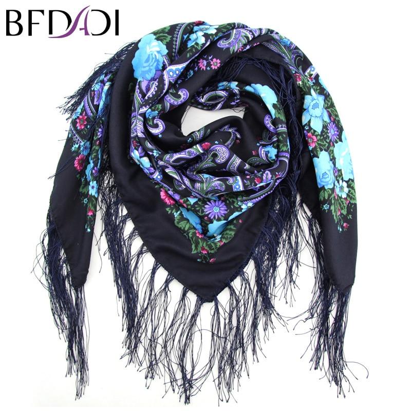 BFDADI New Fashion Ladies Big Square Scarf Printed s