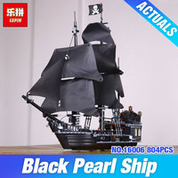 804pcs New LEPIN 16006 Pirates Of The Caribbean The Black Pearl Building Blocks Set Minifigures Legoe
