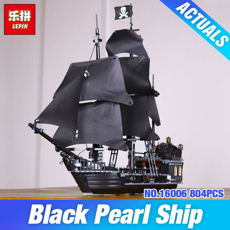 LEPIN 16006 The Black Pearl 804pcs Pirates of the Caribbean Building Blocks Set 4184 Educational DIY Toys Birthday Gifts for Boy kazi 1184pcs pirates of the caribbean black general black pearl ship model building blocks toys compatible with lepin