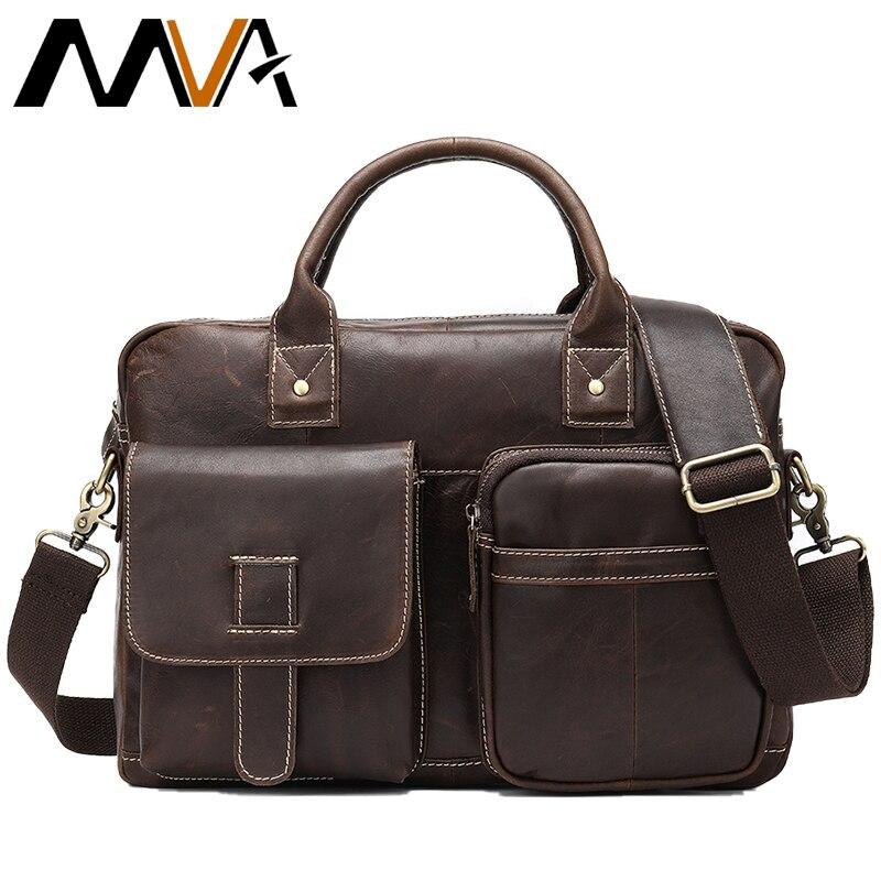 Bescheiden 2019 Neue Mode Aus Echtem Leder Männer Tasche Berühmte Marke Schulter Tasche Messenger Bags Handtasche Kausal 15 laptop Aktentasche Männlichen 8503 Aktentaschen