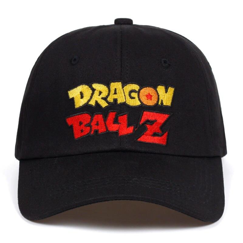 3412d94b20d5c Letter Dragon Ball Z Dad Hat Cotton Baseball Cap Hip Hop Snapback ...