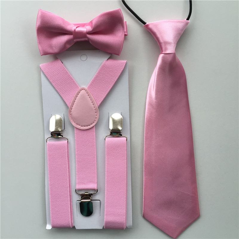 Baby Suspenders Bow Tie for Kids  Adjustable Elastic Classic Accessory Sets