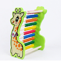 montessori toys wooden math toys for children cartoon abacus scores giraffe materials children's educational toys developing toy