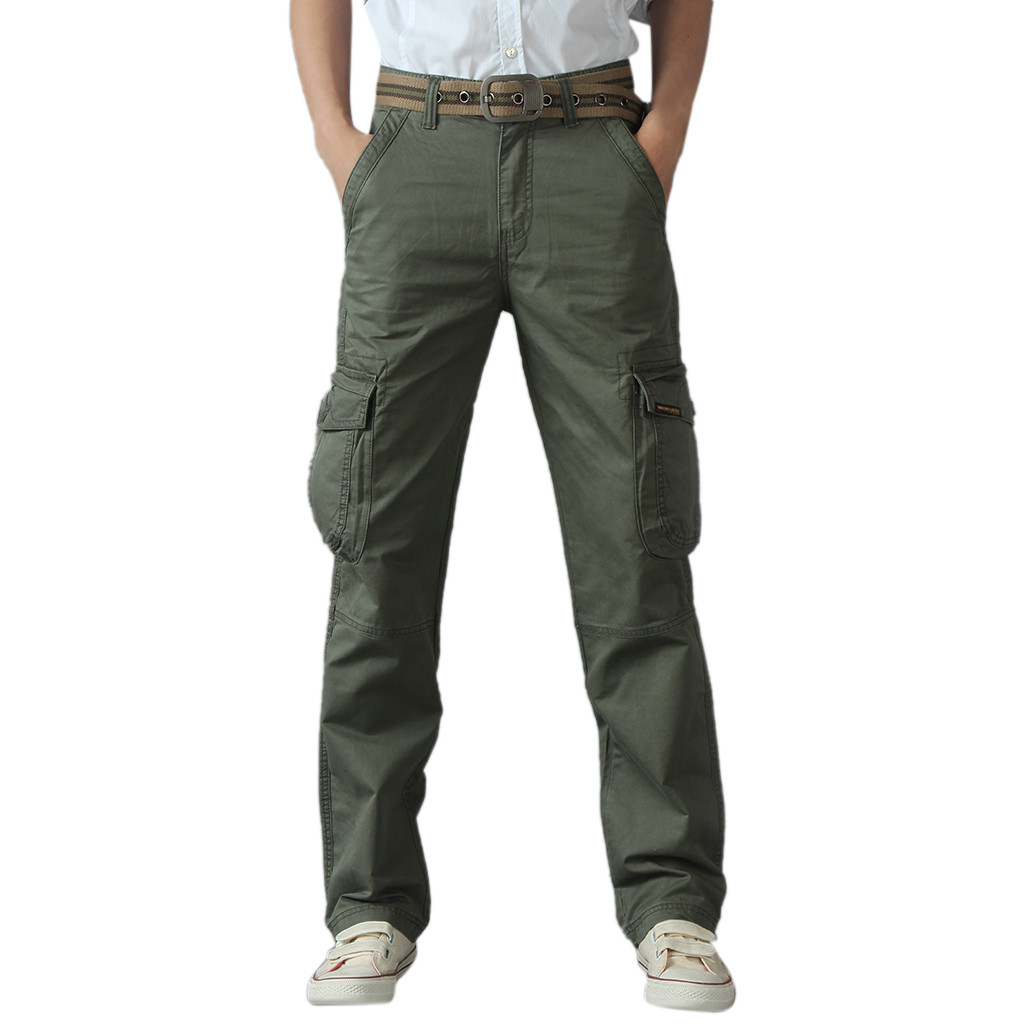 tactical pants Men's Cool Summer Hot Leisure Pants Multi-Pocket Spring Overalls trousers men pantalon homme