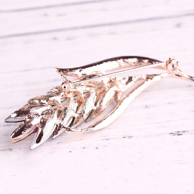 Multi-Warna Kristal Bunga Bros Rhinestone Bros Pin Fashion Perhiasan Gaun Mantel Korsase Perhiasan Hadiah untuk Wanita