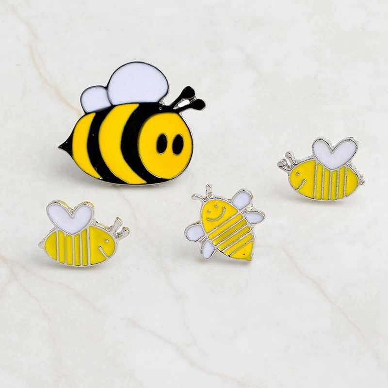 Urijk טיפת שמן סיכות קריקטורה מתכת תגי סמלים על תרמיל סיכה Kawaii בעלי החיים צמח צווארון תגי בגדי DIY