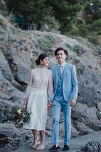 2017 Latest Coat Pant Designs Light Blue Wedding Suits for Men Slim Fit three Piece Tuxedo Custom Suit Groom Prom Blazer Masculino
