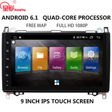 "9 ""IPS DSP touch screen QUAD CORE Android GPS Navi autoradio stereo multimedia DVD player per Mercedes Benz b200 no dvd 2din(China)"